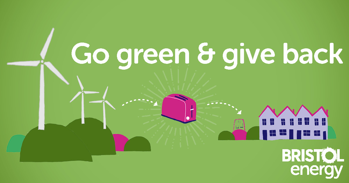 Go green and bive back graphic