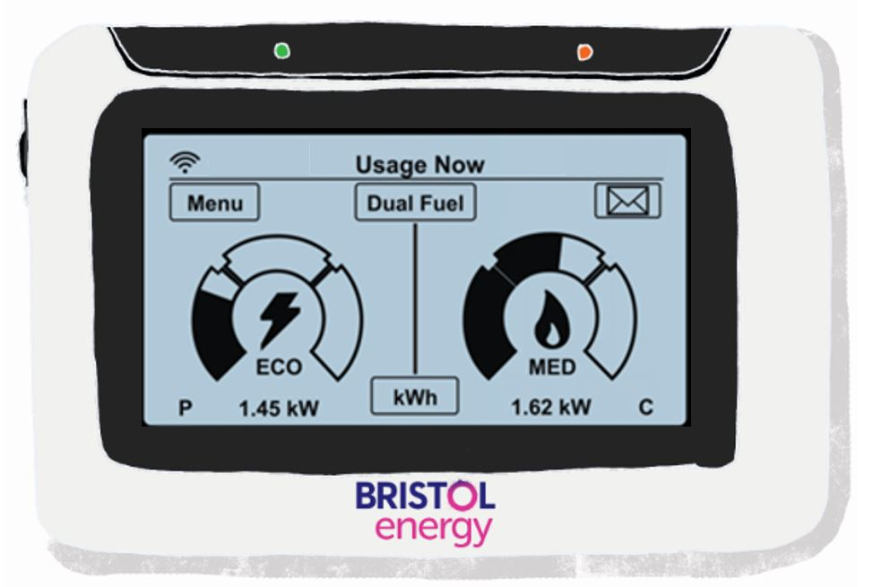 Illustration of Bristol Energy smart meter
